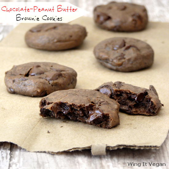Chocolate-Peanut Butter Brownie Cookies
