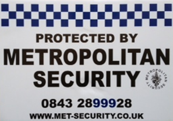 Metropolitan security signage