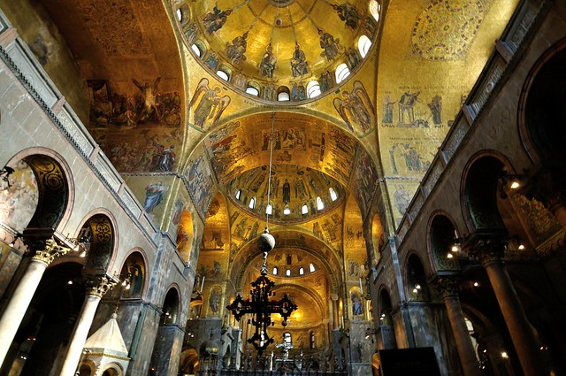 Interior View of St. Mark's Basilica, Venice, Italy