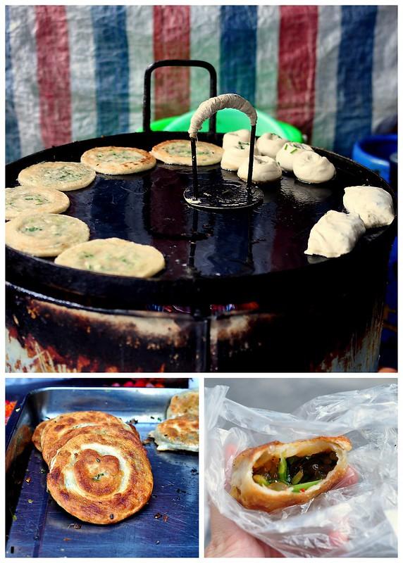 Cong You Bing (green onion pancake) - Shanghai, China
