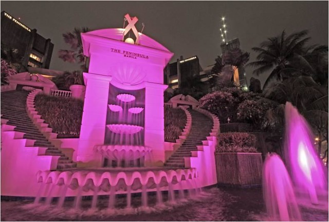 Peninsula Pink Fountain