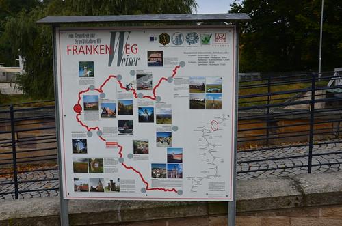 Der Weg von Kronach nach Kulmbach