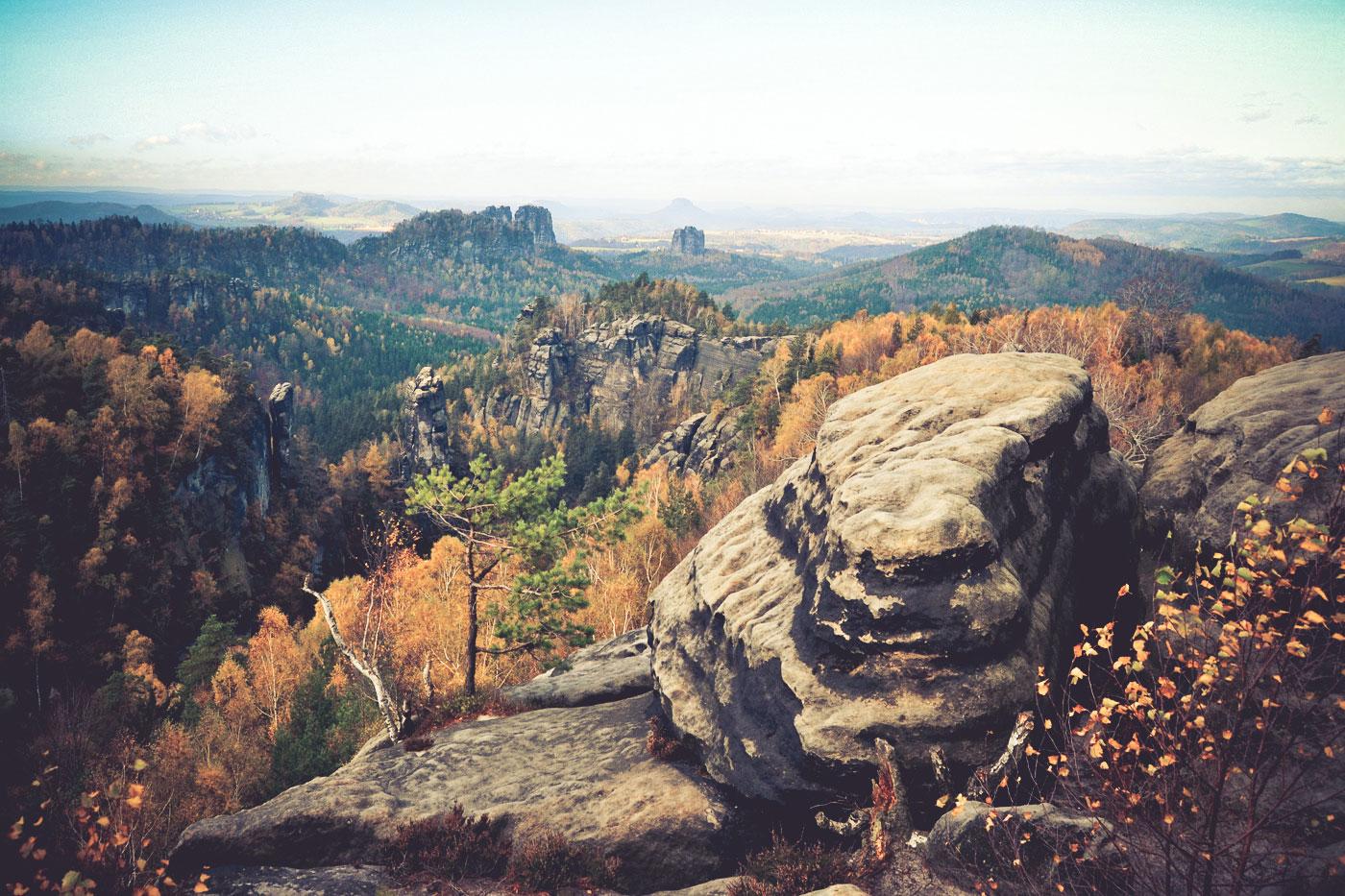 Blick vom Carola-Felsen
