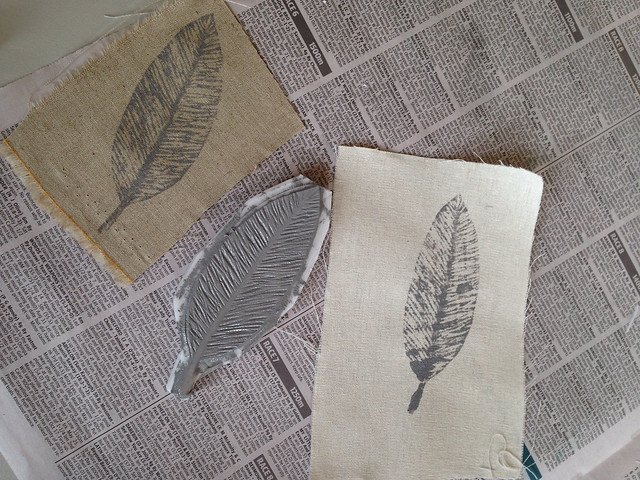 block printing on fabric : workshop at The Craft Sessions