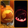 Our pumpkin this year: moon shark