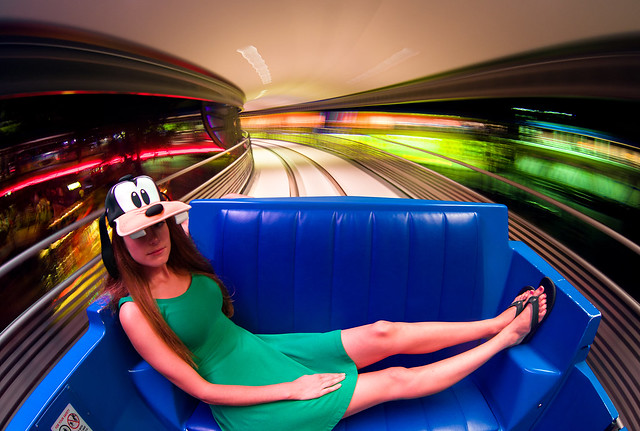 Goofy Lady on the Tomorrowland Transit Authority Peoplemover