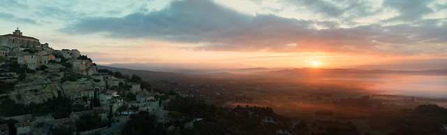 Gordes Sunrise Panorama