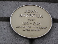 Photo of John Barbour yellow plaque