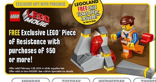 LEGO Store February Promo