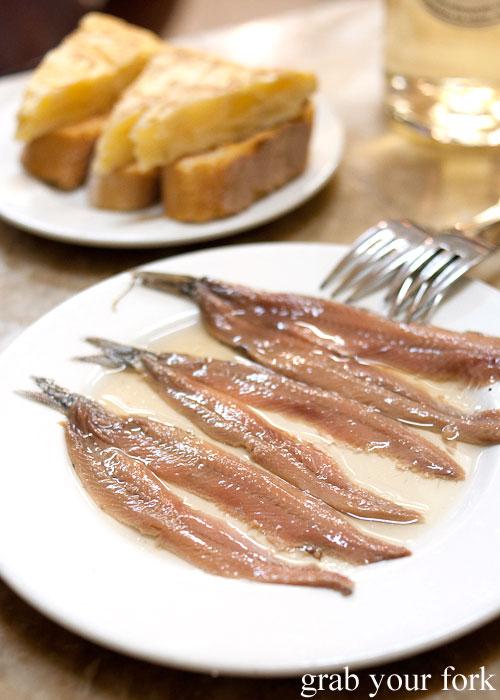 White anchovies at El Xampanyet, Barcelona