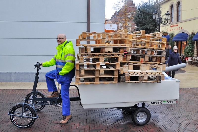 Vrachtfiets-pallets
