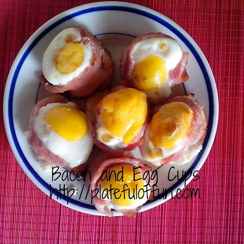 The bomb! Bacon and egg cups for breakfast.