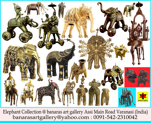 Elephant Collection @ Banaras art gallery Assi Main Road Varanasi India  enjoy some unique art with Us