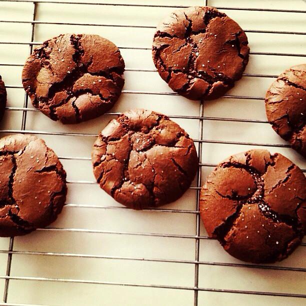 Nutella and sea salt cookies