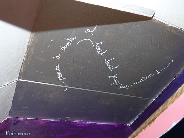 Première à droite... : phrase de Peter pan au plafond