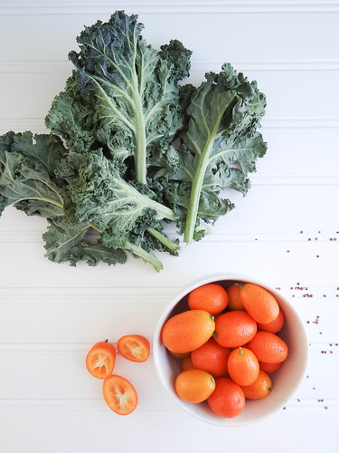 three grain kale & kumquat salad