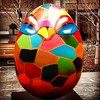 #love them Close ups ... Details ...4 the @thebigegghuntny also this baby is 4SALE ... Title - WHAT CAME FIRST... Boogiebird Egg.. Will be Auctioned off for charity purposes opening the worlds and minds to children to the ARTS.. AWESOME..