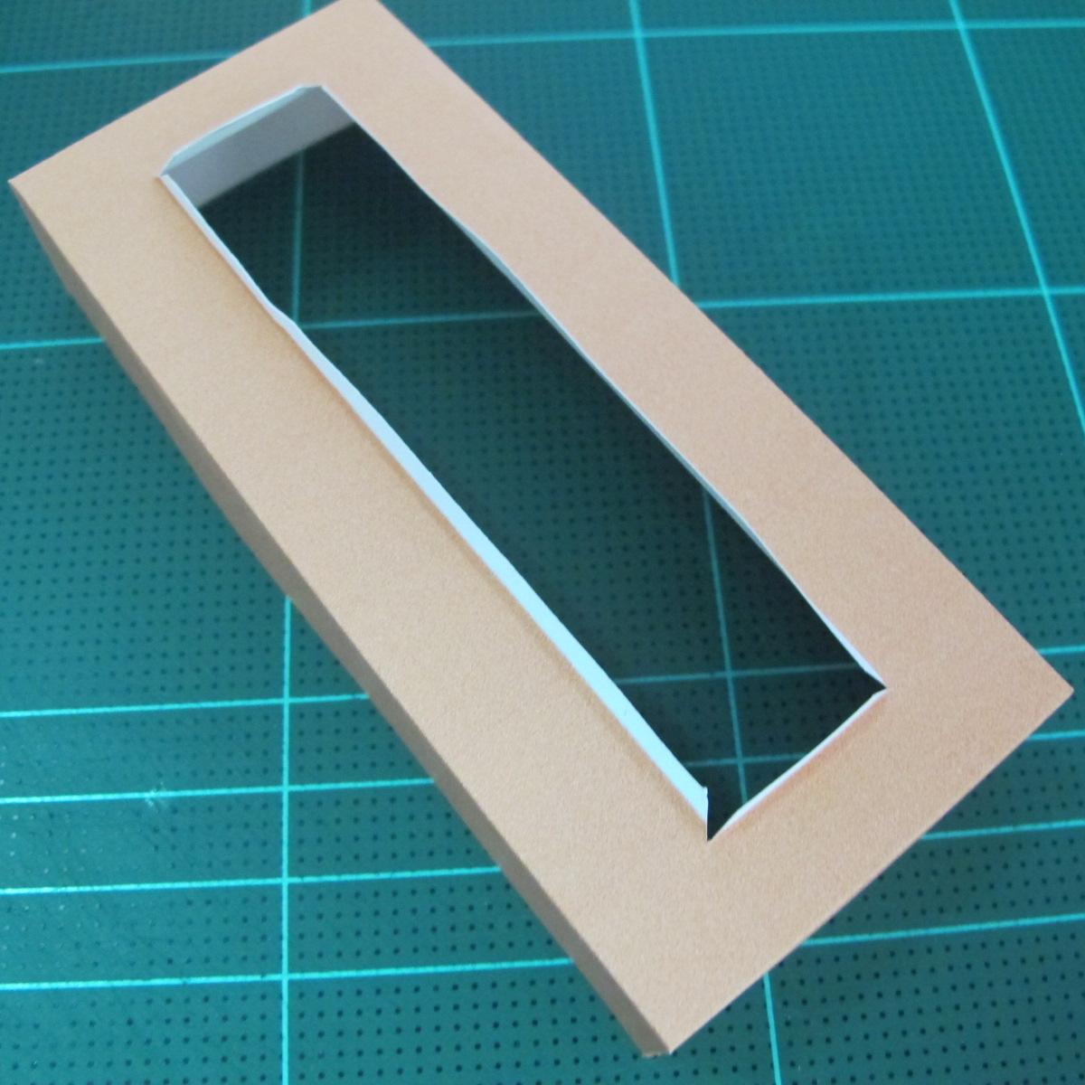 วิธีทำโมเดลกระดาษ ตุ้กตาไลน์ หมีบราวน์ ถือพลั่ว (Line Brown Bear With Shovel Papercraft Model -「シャベル」と「ブラウン」) 024