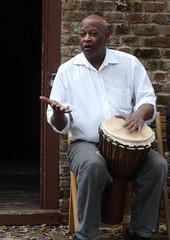 Gullah culture drumming at Boone Hall Planatation.