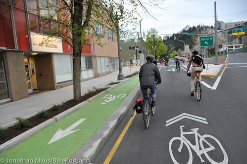Bike Advisory Committee rides downtown-18