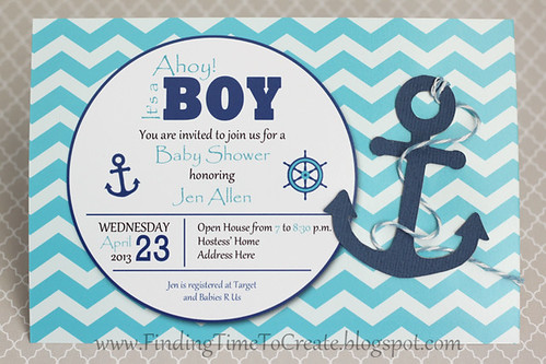 Baby Boy Nautical Shower Invites