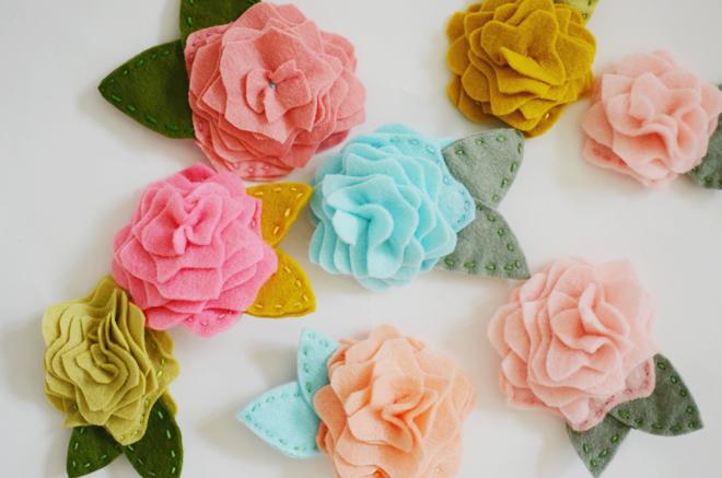 rosy posy felt flower