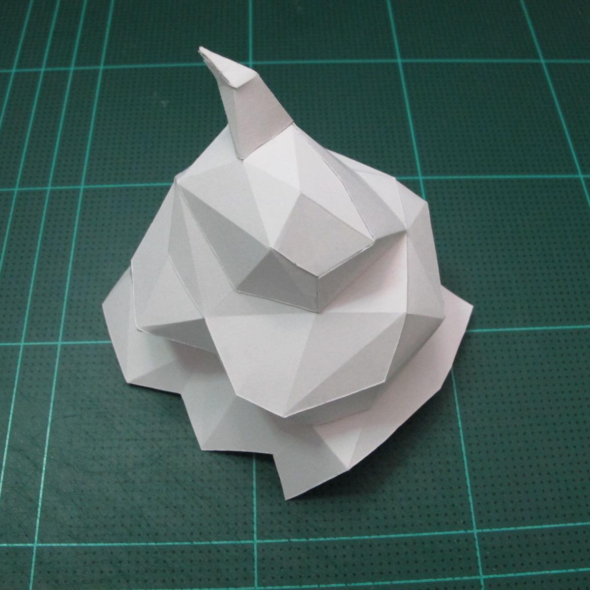 วิธีทำโมเดลกระดาษคุกกี้รสคุกกี้แอนด์ครีม  (Cookie Run Cream Cookie Papercraft Model) 006