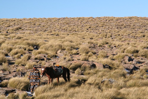 Blanket and pony, Sites of Lesotho