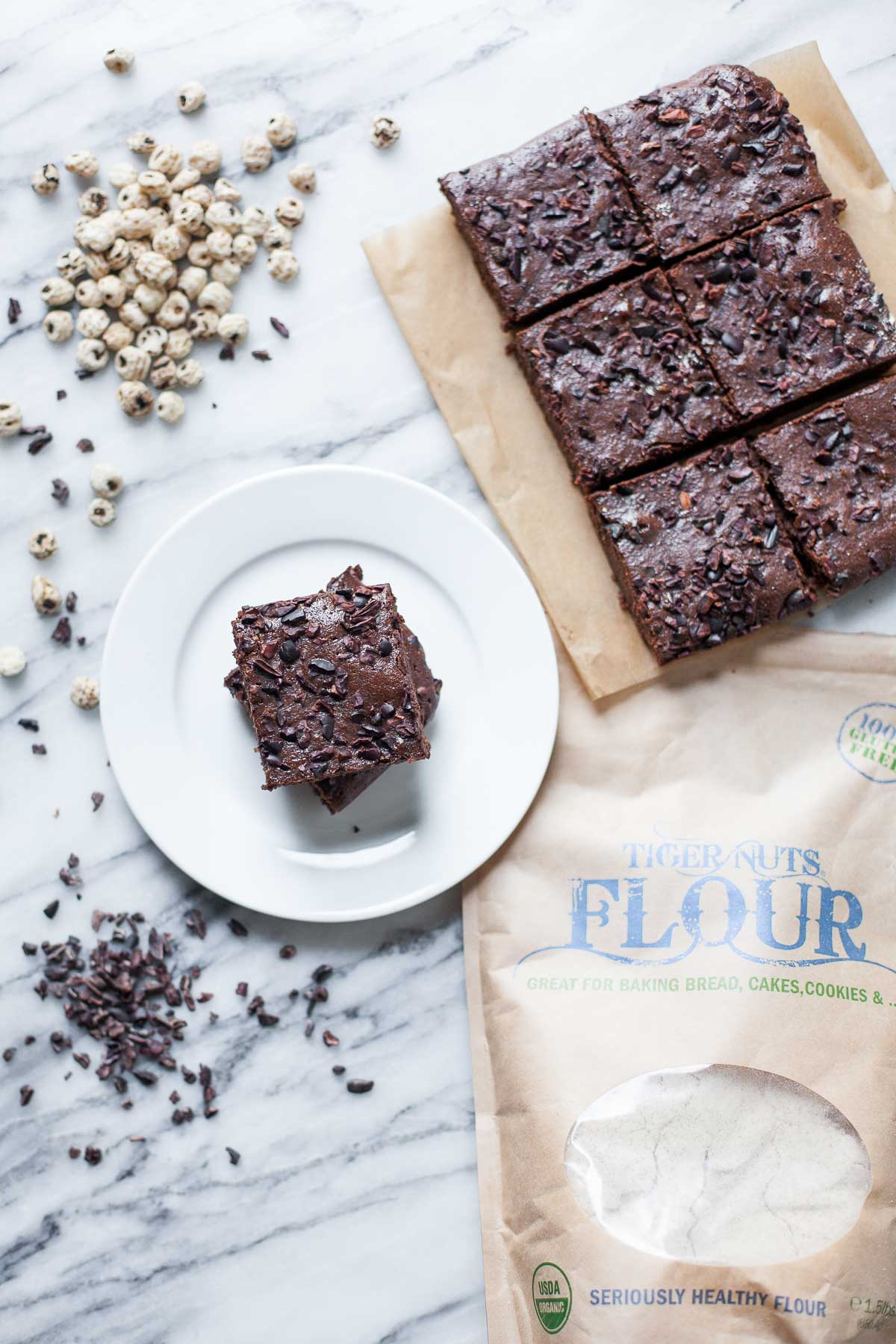 Tiger Nut Brownies (Paleo) | acalculatedwhisk.com