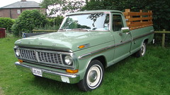ford f-series(0.0), automobile(1.0), automotive exterior(1.0), pickup truck(1.0), vehicle(1.0), truck(1.0), chevrolet c/k(1.0), bumper(1.0), ford(1.0), land vehicle(1.0),