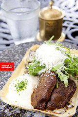 Flan (Pork Cheeks With Poached Egg, Mushrooms &amp…