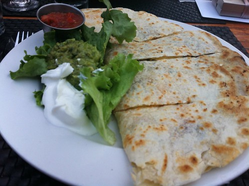 breakfast quesadilla. the filling station.