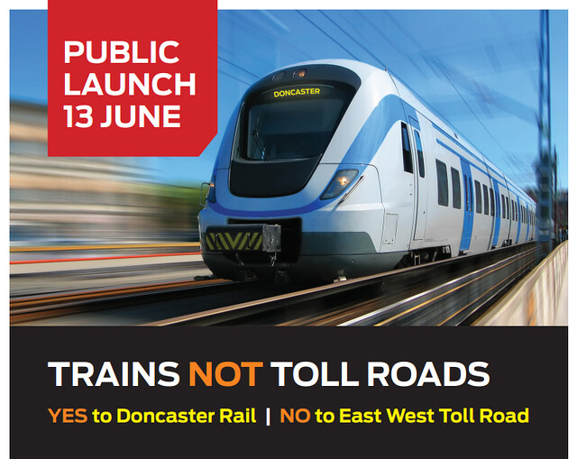 Trains Not Tollroads flyer cover
