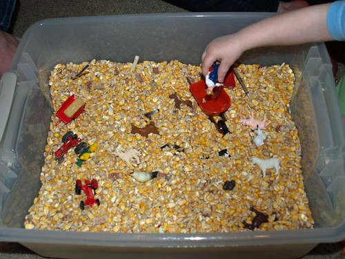 Farm Sensory Tub (Photo from Homeschool Mo)