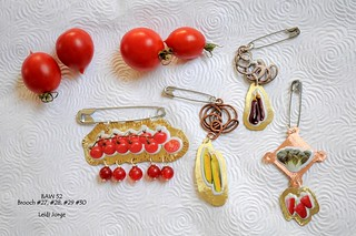 Vegetable brooches