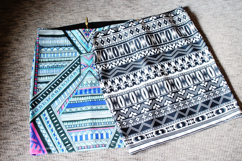 Tribal, aztec print skirt, cheap skirt, sale