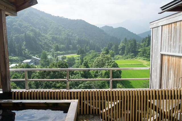 村上屋旅館 天上露天風呂