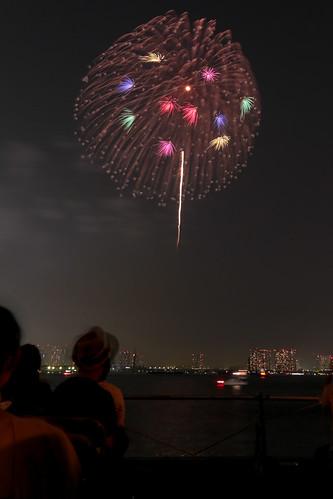 「昇曲導 銀閃 冠菊 小割浮模様」by 阿部正明 東京湾大華火 2013 Tokyo Bay Grand Fireworks