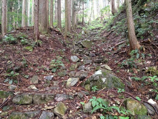 蕪山 石段
