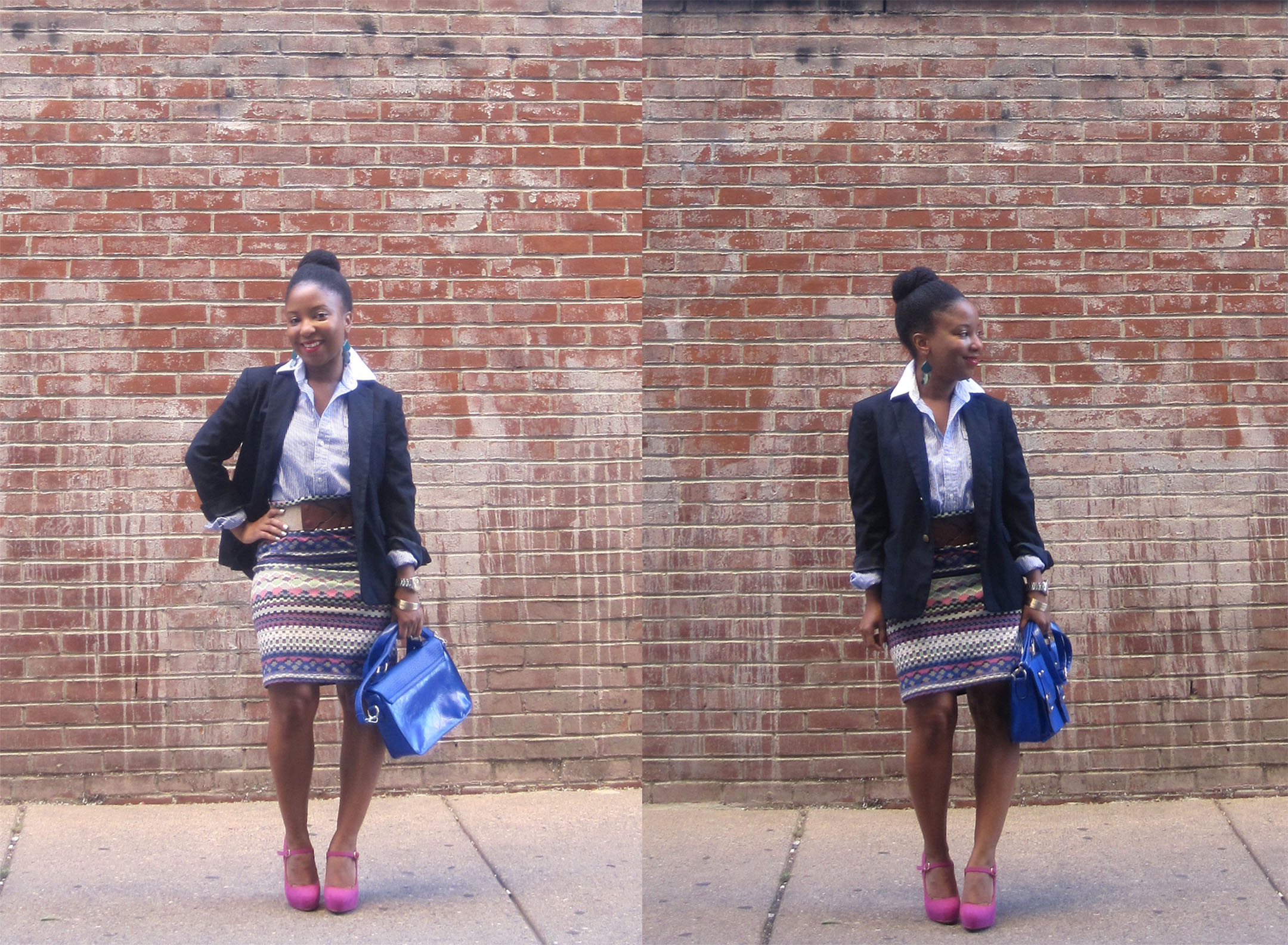 Blazer and mixed stripes