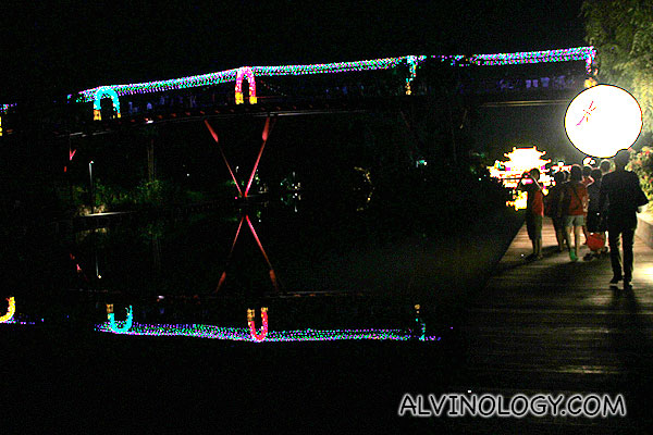 The bridges were lighted too