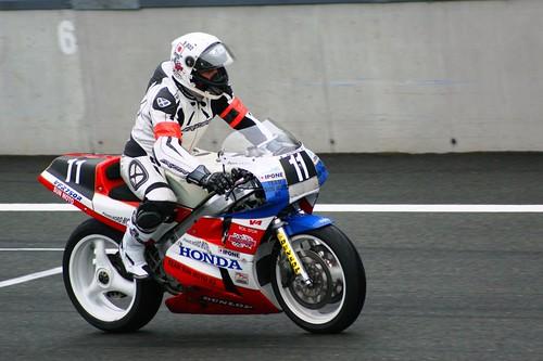Pascal Fleurial & Robert Doron, 3èmes du PBOC (Honda RC30, Paris Nord)