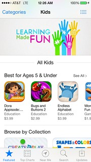 iOS7 App Store - Kids Category