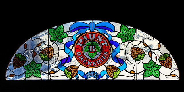 Transom window at the former Pabst Headquarters