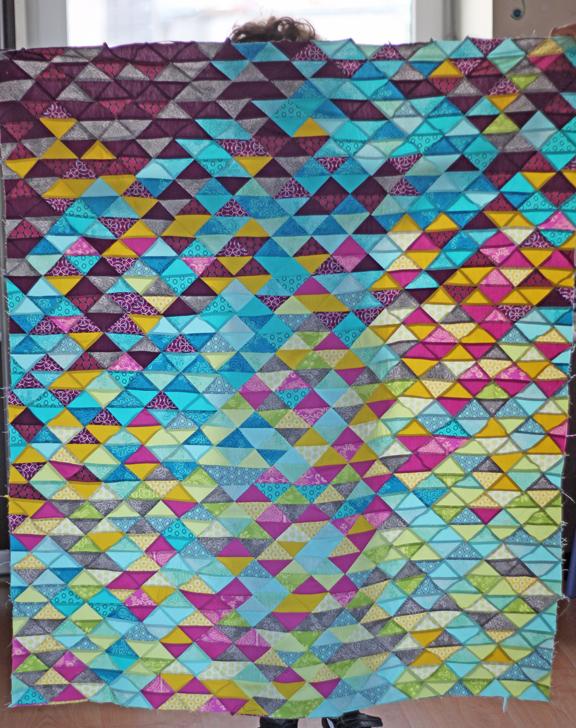 WIP - HST quilt top
