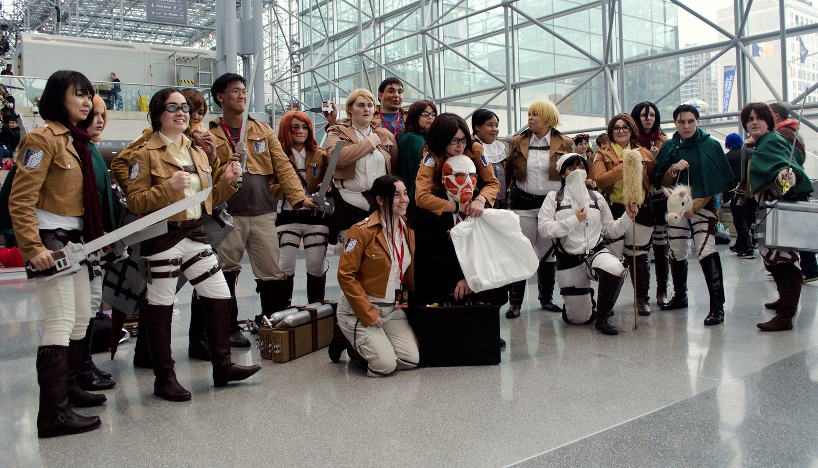 Attack on Titan Cosplay Group NYCC 2013