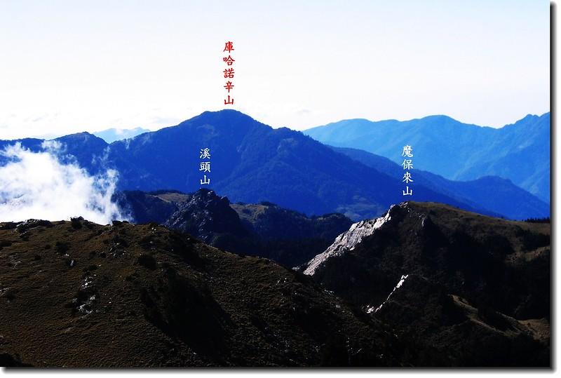 庫哈諾辛山(From向陽山) 2