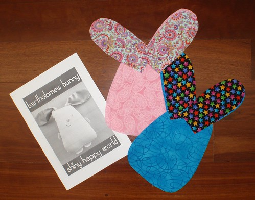 Bunny pattern pieces - ready to sew