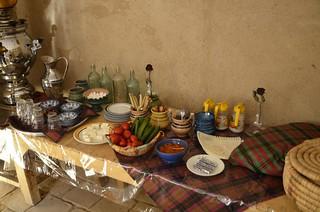 Desayuno del Noghli house de Kashan