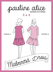 Malvarosa dress pattern, drop waist